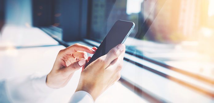 mobile banking header