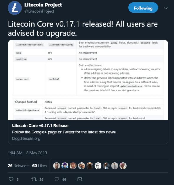 Litecoin Core v0.17.1